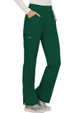 Cherokee Workwear Mid Rise Straight Leg Pull-on Pant WW110 Hunter Green HUN