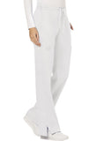 Cherokee Workwear Mid Rise Moderate Flare Drawstring Pant WW120 White WHT
