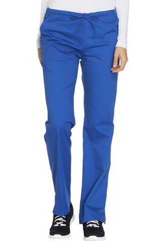 Cherokee Workwear Mid Rise Straight Leg Drawstring Pant  Tall WW130T Royal ROYW