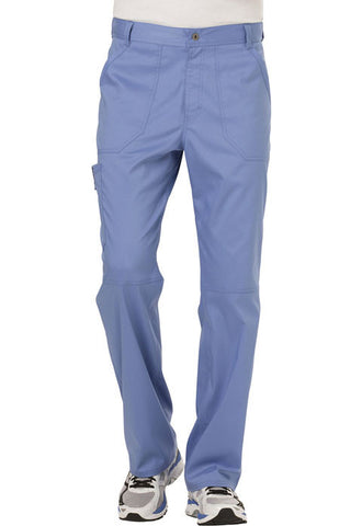 Cherokee Workwear Men's Fly Front Pant  Short WW140S Ciel CIE