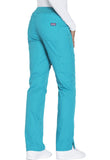 Cherokee Workwear Mid Rise Straight Leg Pull-on Cargo Pant  Petite WW210P Teal Blue TLBW