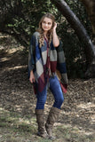 Felicity Checkered Poncho