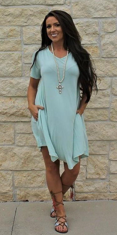 Soft Mint Tunic Dress