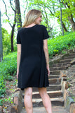 Stunning Neckline Black Dress