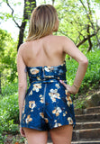 Can't Look Away Navy Romper