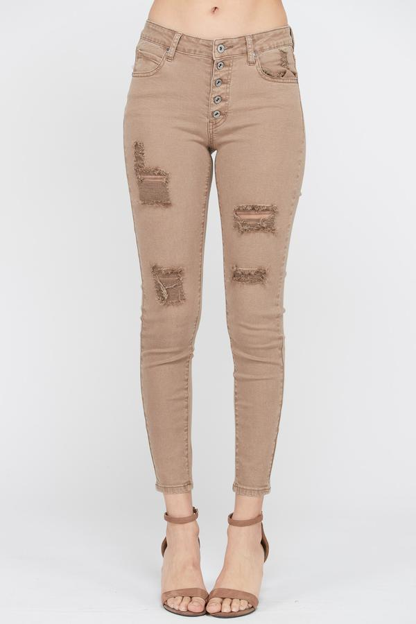 Cocoa Butter Ankle Cropped Jeans