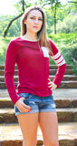 Burgundy It Girl Top