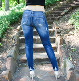 Ankle Crop Distressed Denim