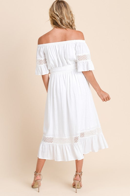 Dalila Off Shoulder Midi Dress