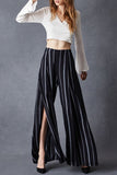 Overlapped Wide Leg Pants