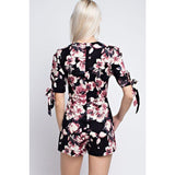 Bottoms - Flower Print Romper