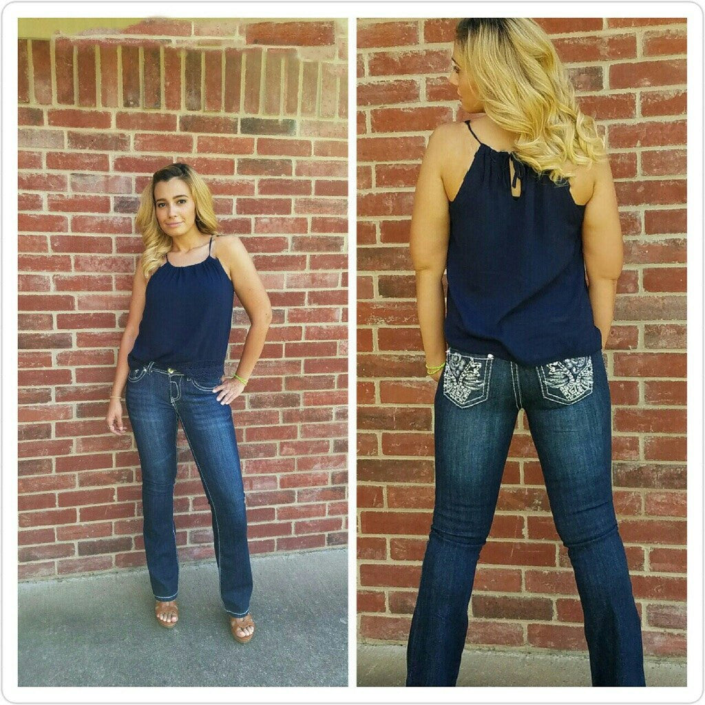 Bottoms - Sassy Rose Embellished Jeans