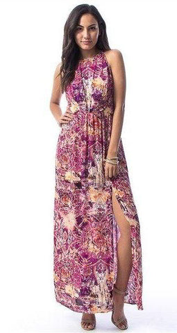 Achelle Lace Back Maxi Dress