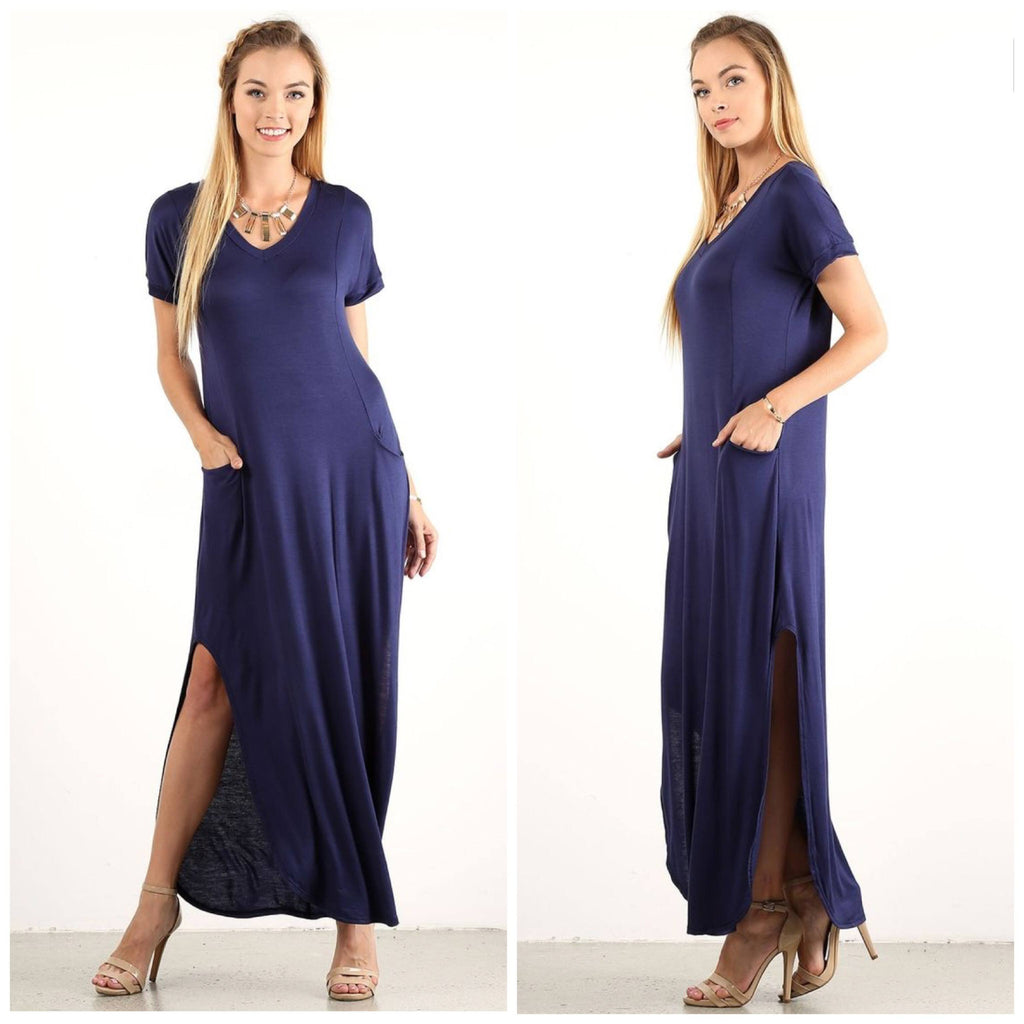 Dresses - Navy Maxi Dress
