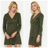 Dresses - Sexy Lace-Up Fall Dress