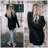 Lace-up Black Sweater