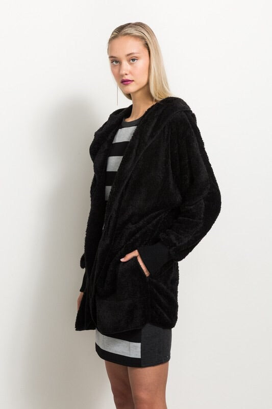 Black Plush Jacket