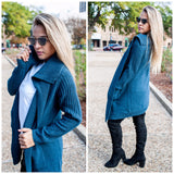 Knit Sweater Open Cardigan
