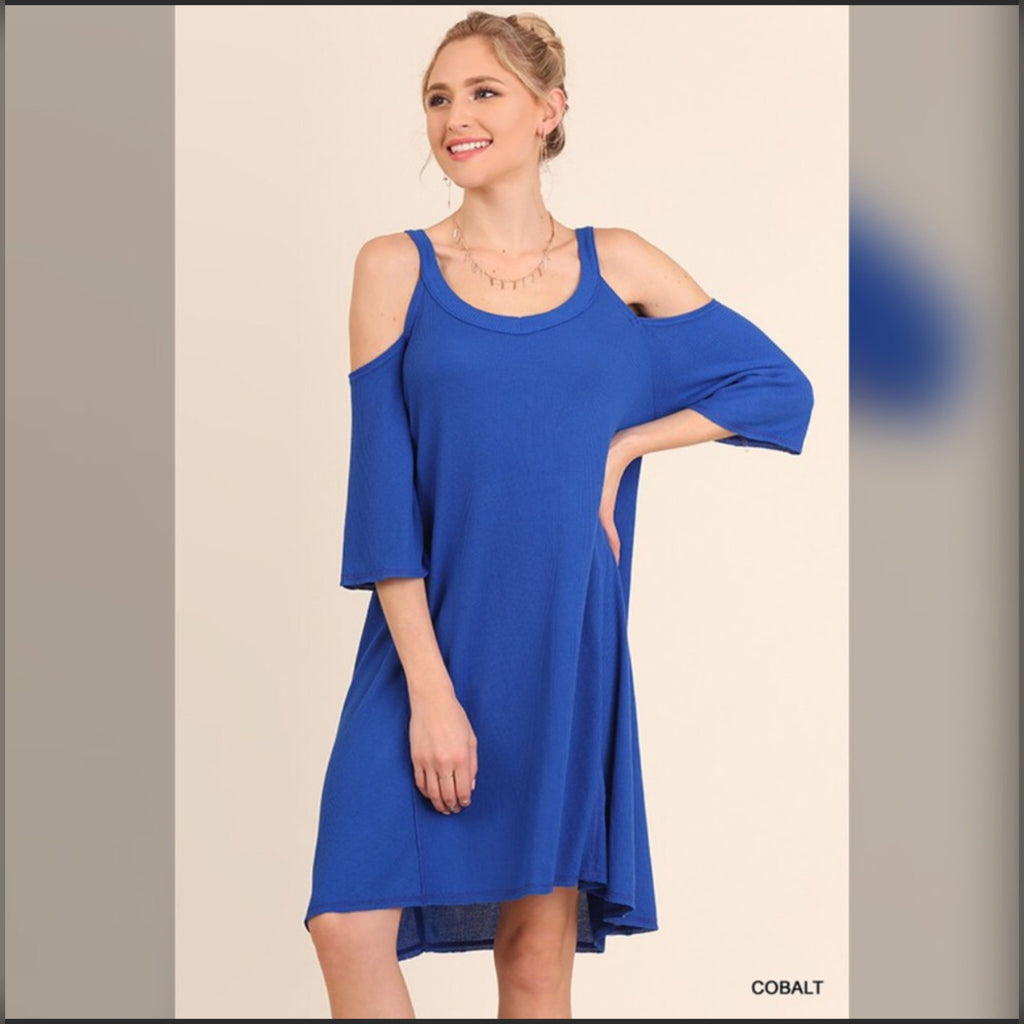 Thermal Cold Shoulder Dress