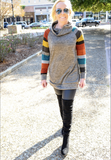 Charcoal Striped Sleeve