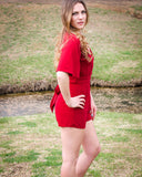 Red Delight Romper