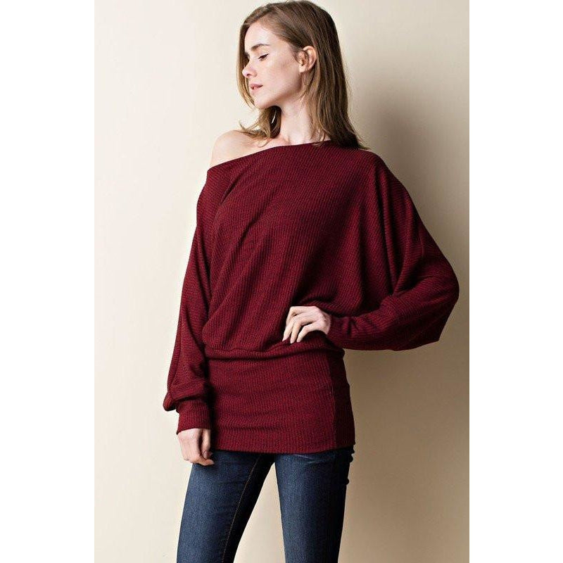 Tops - Burgundy Dolman Top