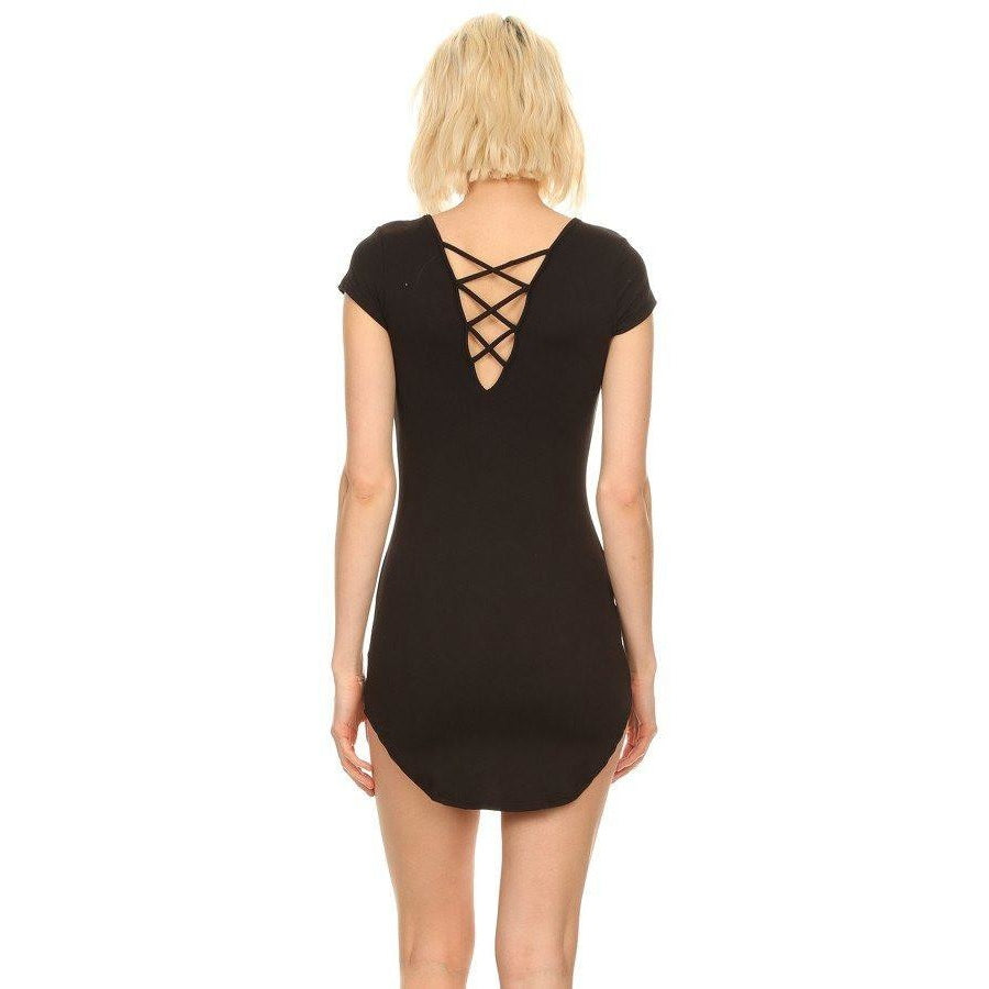 Tops - Double Sexy Criss Cross Tunic