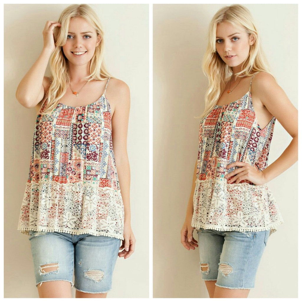 Tops - Multi Print Tank Top