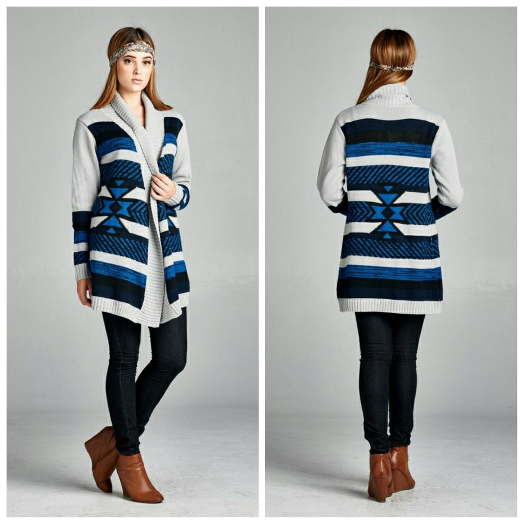 Tops - Tribal Print Cardigan