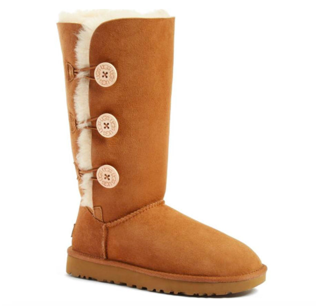 ef66ec5979e UGG Women's Bailey Button Triplet II Boot - CHESTNUT - SALE