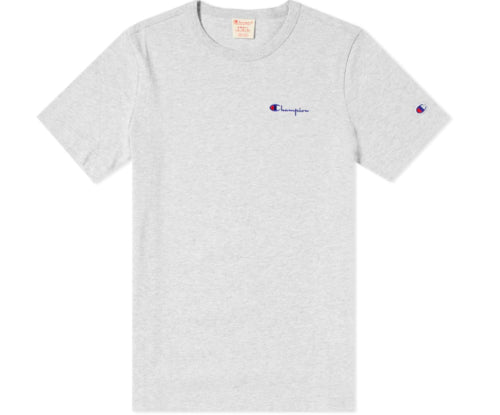 1ae87f9ae8fc Champion Reverse Weave Men's Small Script Chest Logo Tee- Oxford Gray -  First Clothing