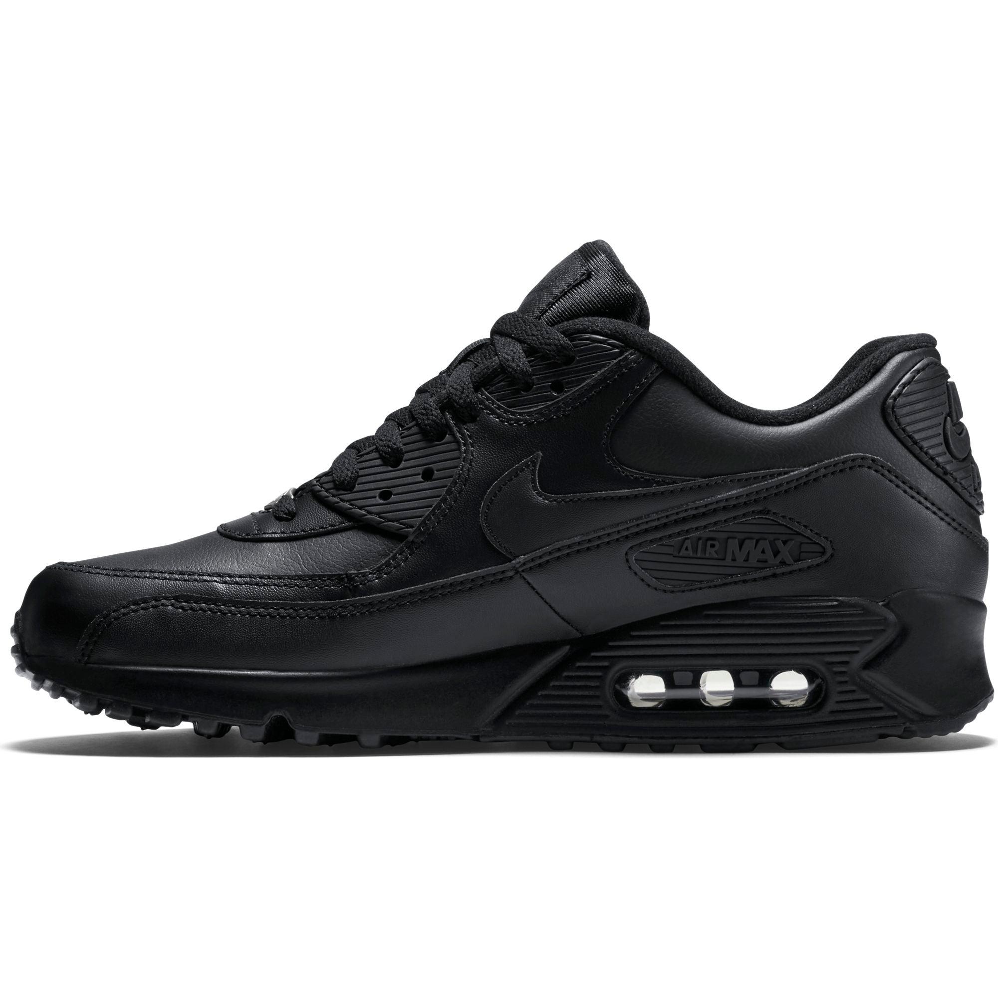 cheap for discount 8656b 8964e Nike Men s Air Max 90 Leather Sneakers, Black Black - First Clothing