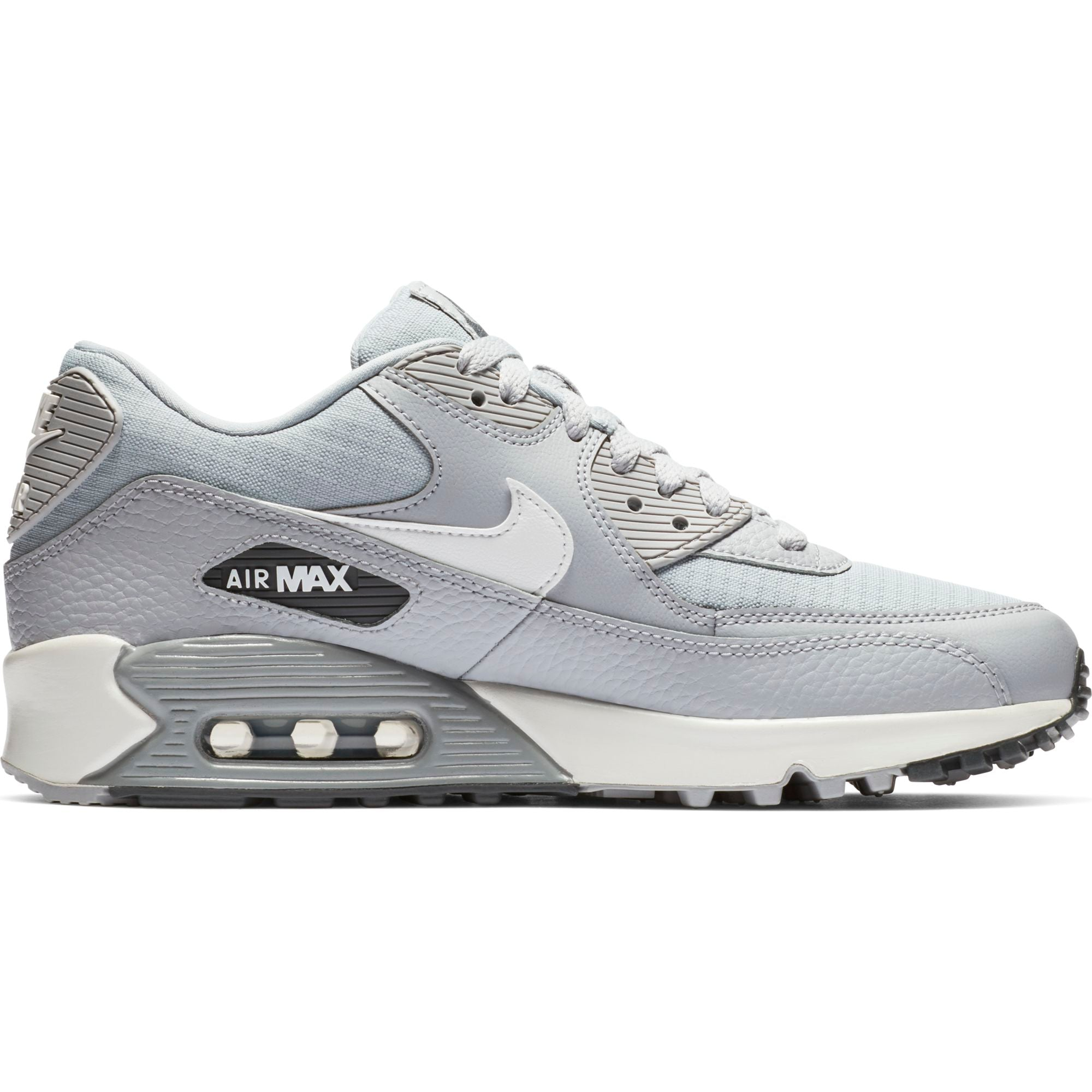 new concept 828a7 40be5 Nike Women s Air Max 90 Sneakers, Wolf Grey  Summit White-Dark Grey - First  Clothing