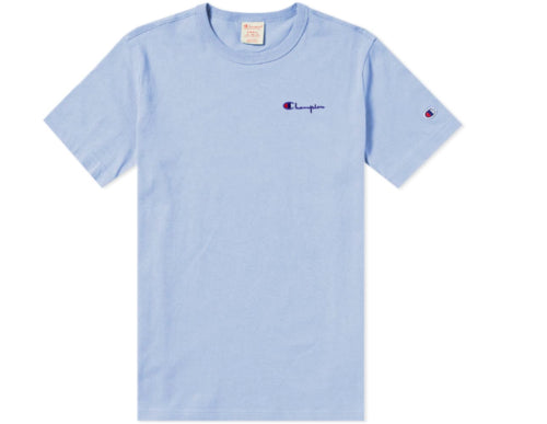 80aa96354 Champion Reverse Weave Men's Small Script Chest Logo Tee- Lilac Wah - First  Clothing