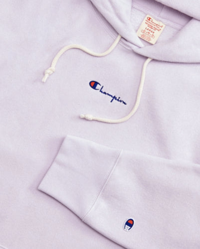 03dd8a4a Champion Reverse Weave Super Oversize Logo Small Script Hoodie - Smoked  Lilac/La - First ...