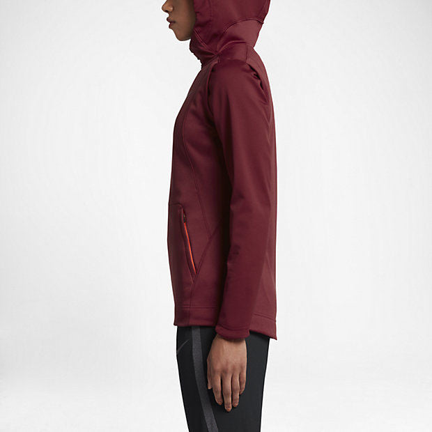 premium selection 872fb aad51 NIKE Women Therma Hyper Elite Hoodie Jacket - Dark Red 844601-677 SALE -  First Clothing