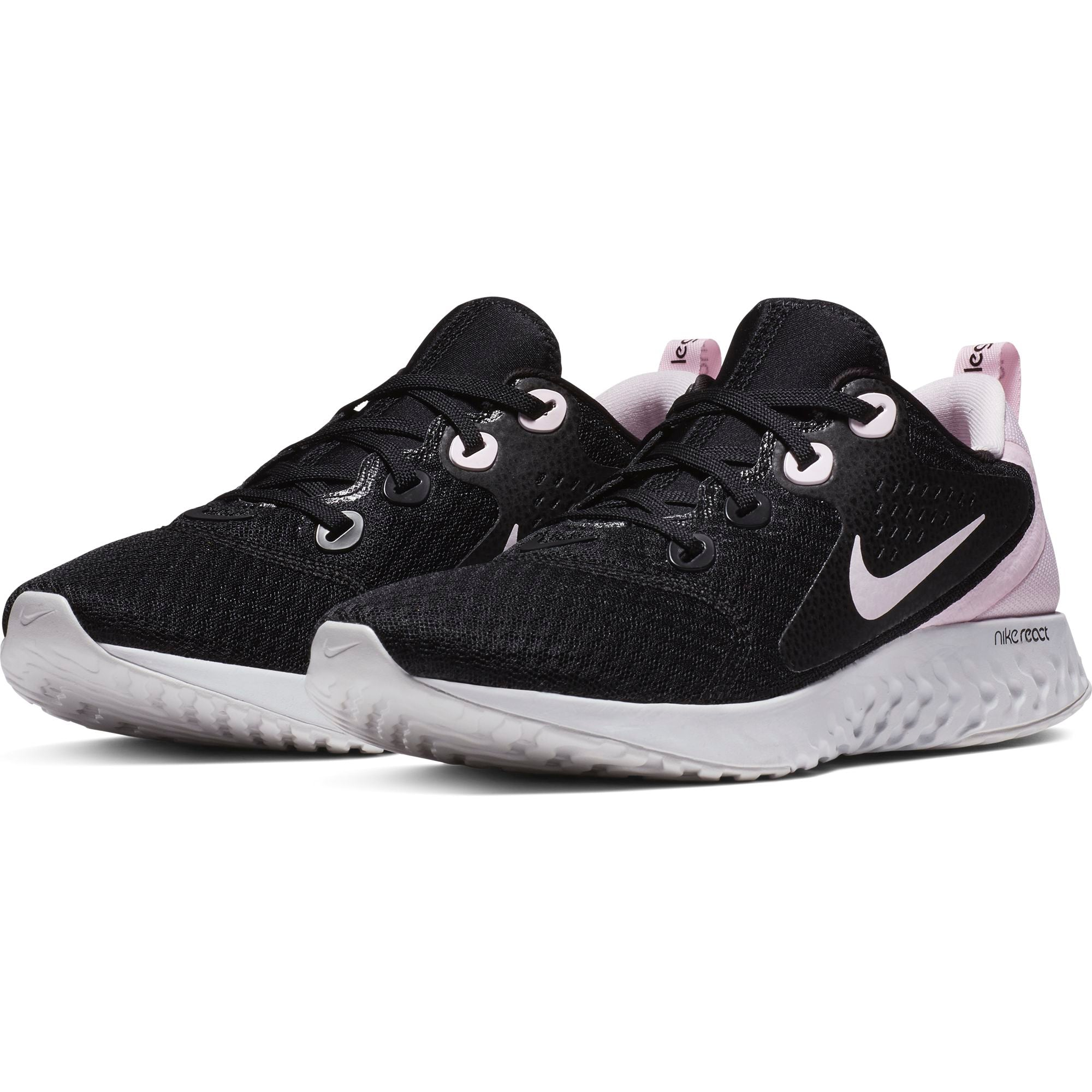 promo code 57afc 21ab6 Nike Womens Legend React Running Shoe, BlackPink Foam-Vast Grey - First  Clothing