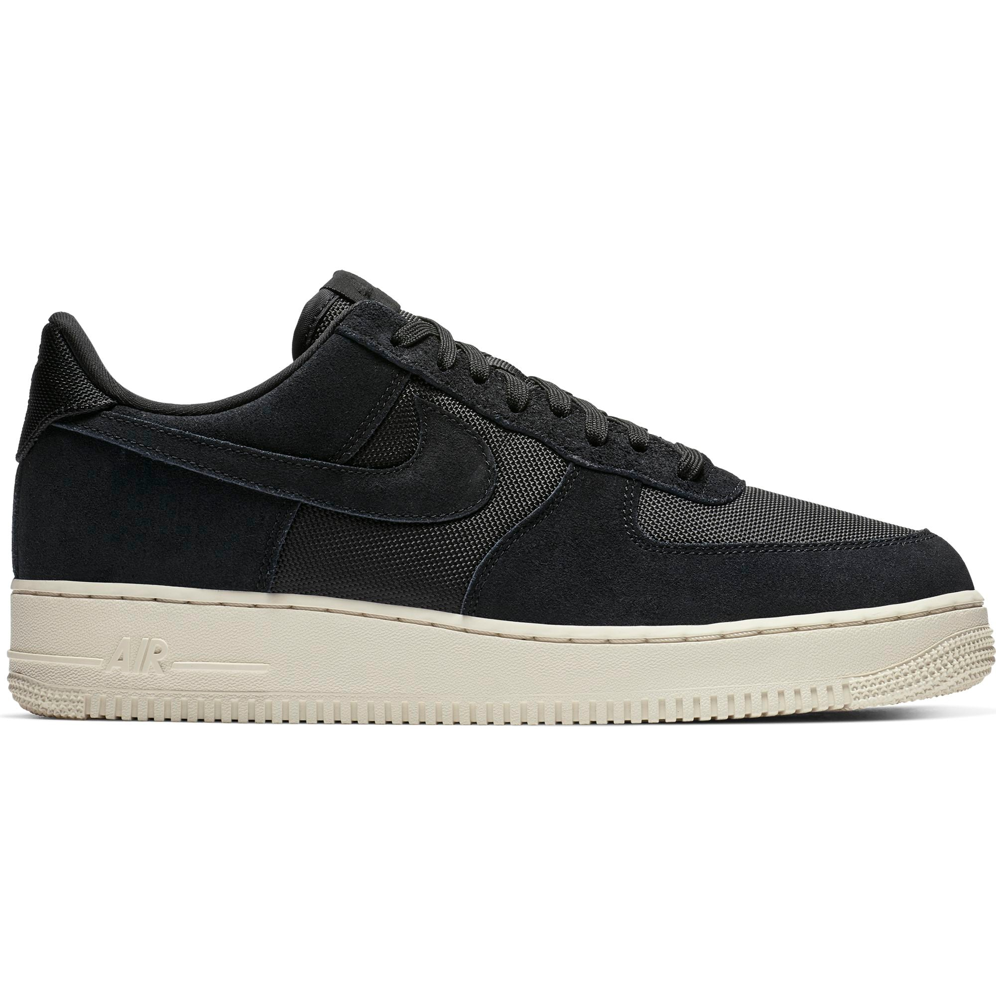 sneakers for cheap c5ca5 3e90b Nike Men s AIR FORCE 1  07 1 Low-cut Sneakers, Black Black Pale Ivory -  First Clothing