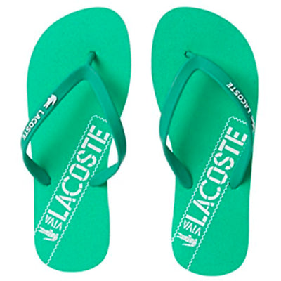 329603a89 ... Lacoste Womens Ancelle Slide Synthetic Sandals - Green  White - First  Clothing ...