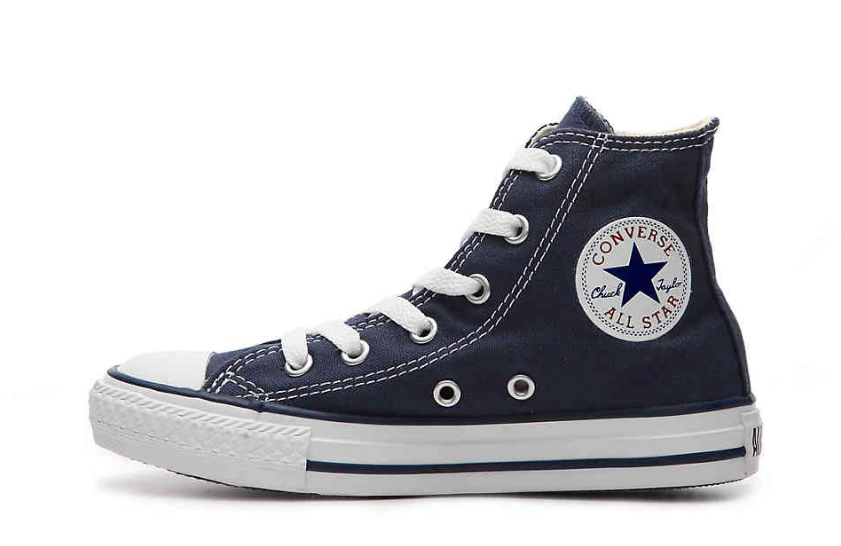 7f075d09bb5 ... Converse Youth Chuck Taylor All Star HI Sneakers, Navy - First Clothing  ...