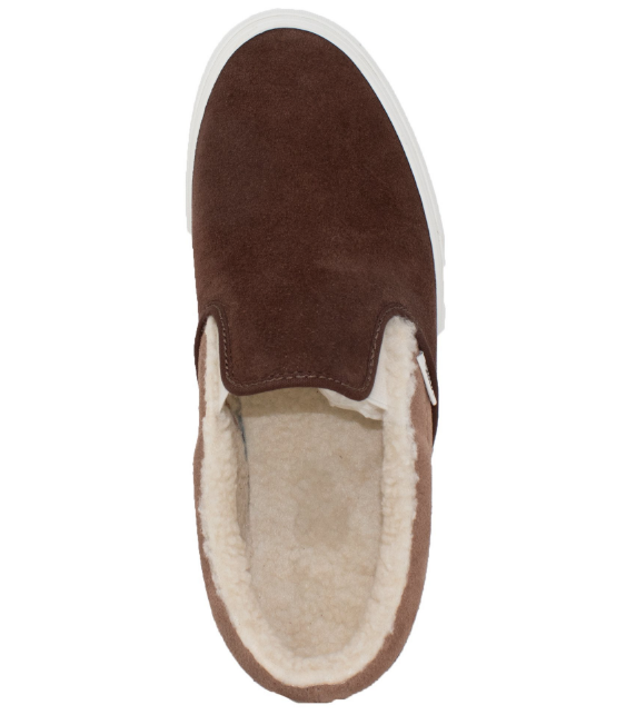 0f4c21b438b VANS Suede and Sherpa Classic Slip-On Sneakers