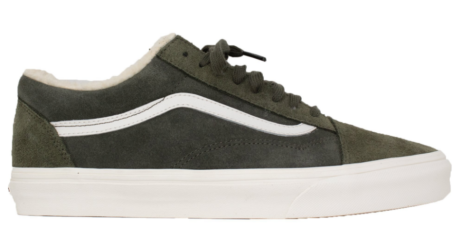 f30720f0e9f VANS Sherpa Suede Old Skool Classic Sneakers -Olive - First Clothing