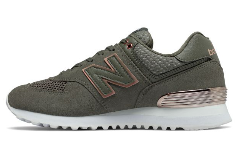 New Balance Women's 574 All Day Rose Classic Casual Sneakers, Olive