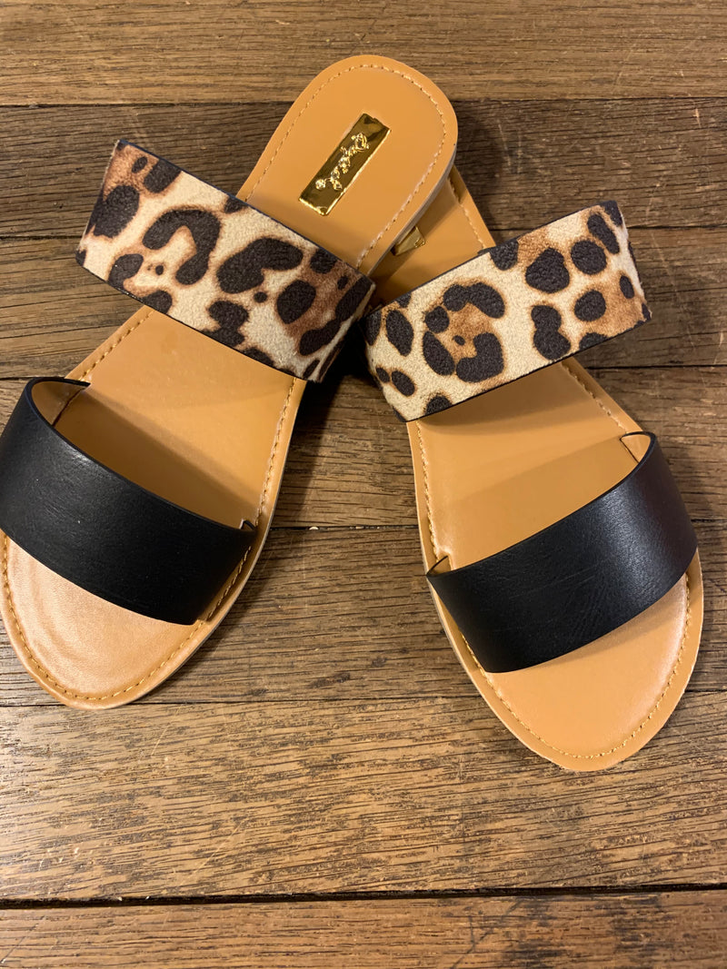 Cheetah Slide Sandal