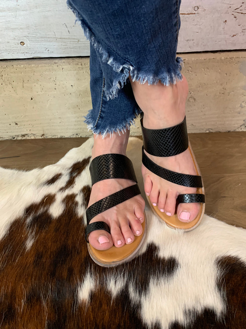Textured Strappy Sandal