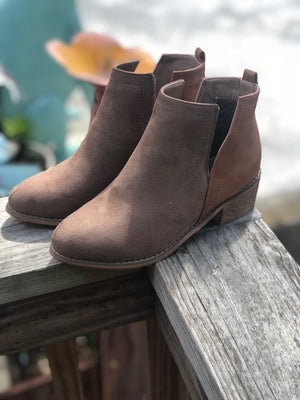 Cut Out Low Bootie