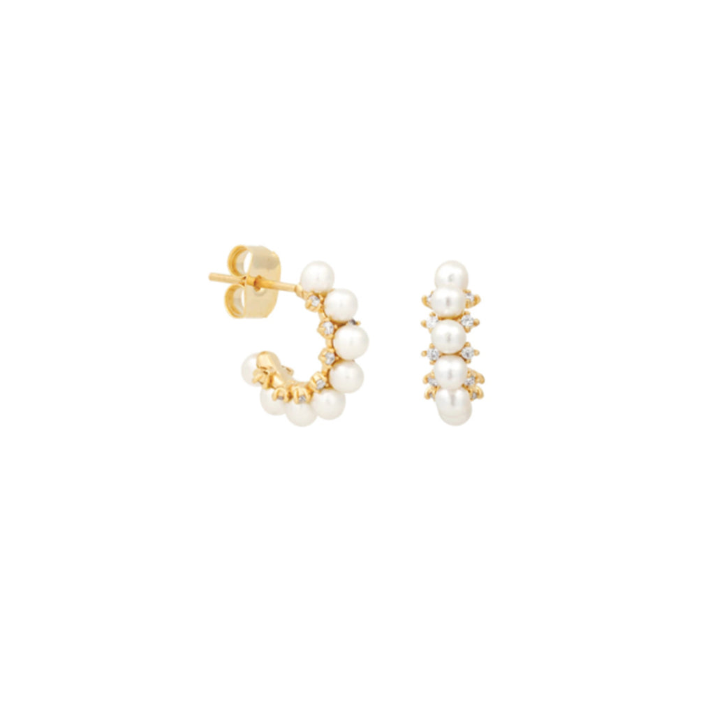 Alessandra Claw Earrings - Beige