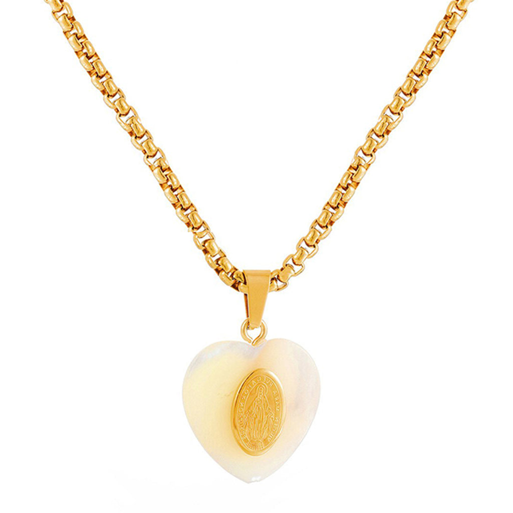 Vintage Heart Chunky Gold Necklace