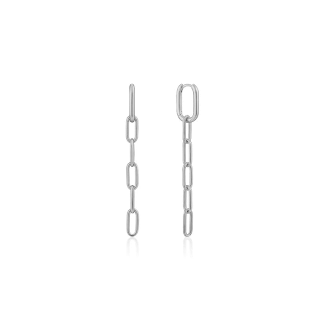 Chain Drop Earrings - silver