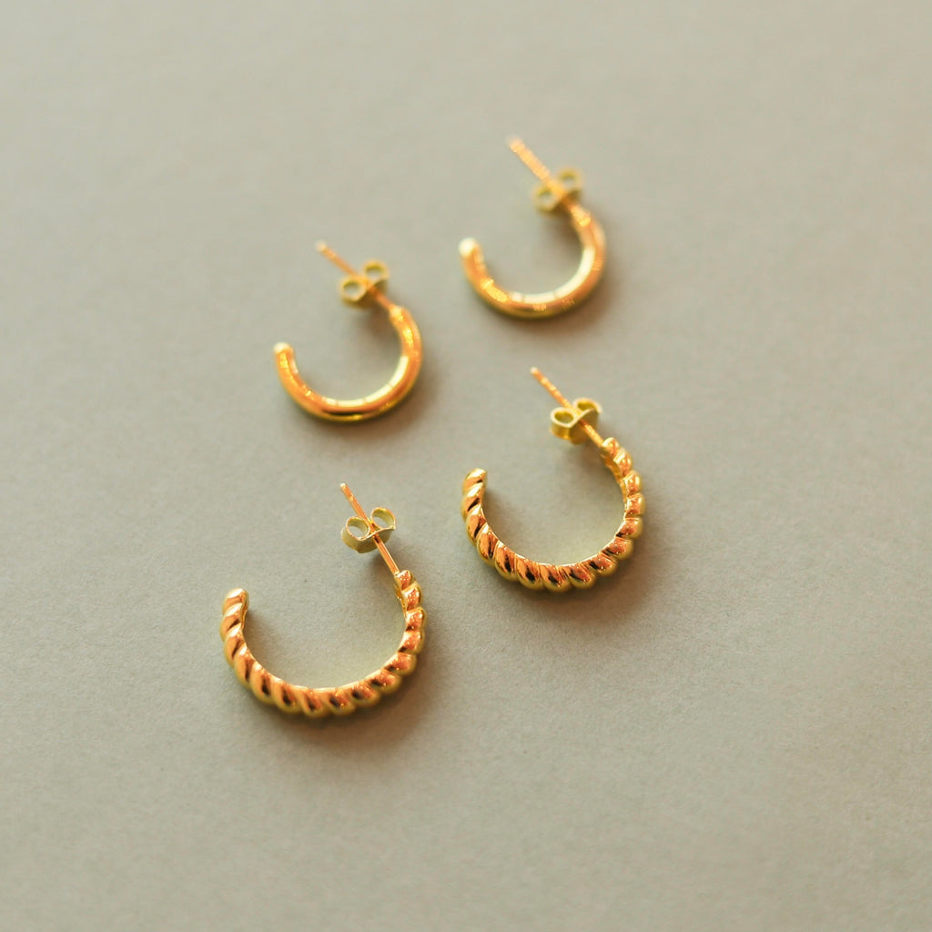 Braided Semi Hoop gold